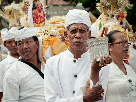 Galungan is celebrated by Tanah Lot