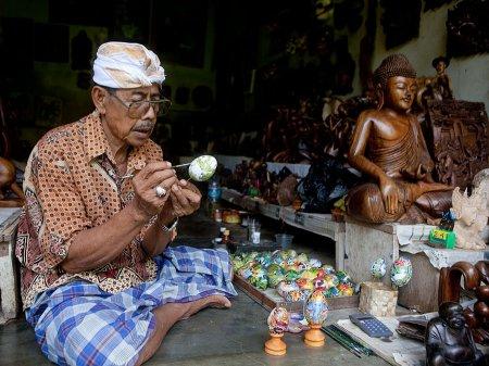 Balinese egg painting (Lukisan Telor)
